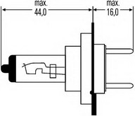 Bec far faza lunga PEUGEOT 307 StationWagon (3H) 2.0 HDI 110 (79KW / 107CP)HELLA 8GH 007 157-121