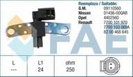 Senzor turatie, management motor FAE