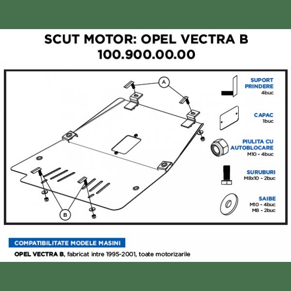 Scut motor metalic ASAM Opel Vectra B 1995-2001