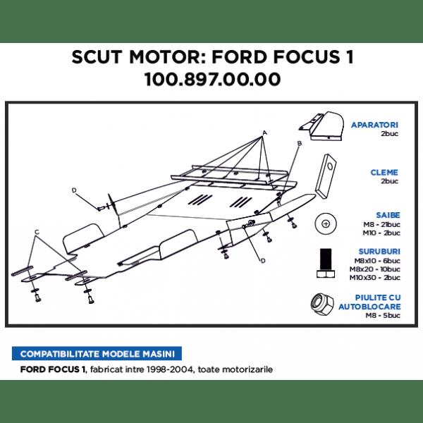 Scut motor metalic ASAM Volkswagen Sharran 1999-Prezent