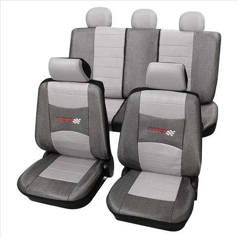 Huse scaune auto Petex Universal Carbon Argintiu
