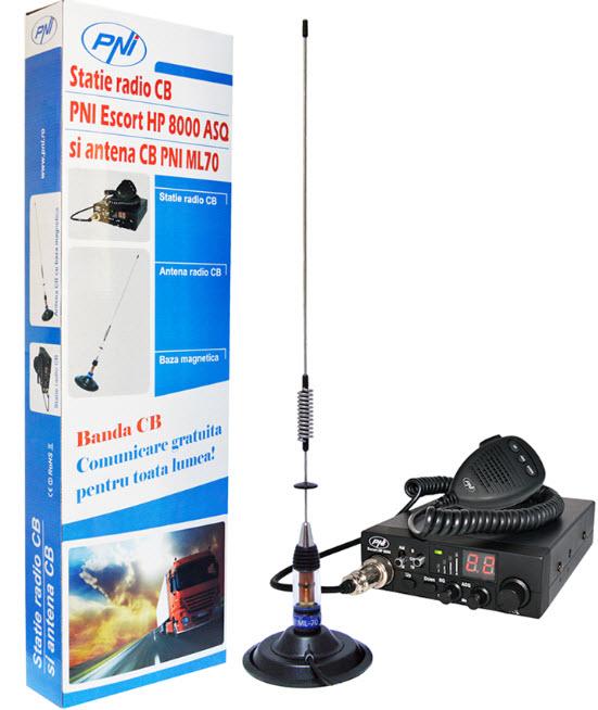 Kit statie radio plus antena PNI 8000 CB ML70