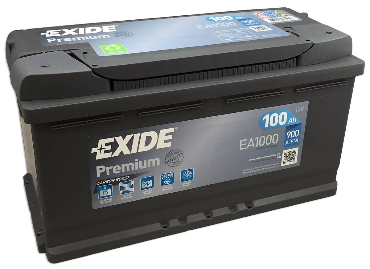 Baterie auto Exide Premium 100Ah 12V EA1000