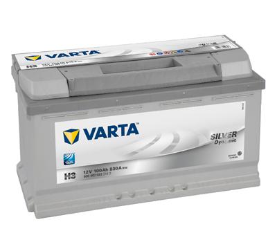 Baterie auto Varta H3 Silver Dynamic 100Ah 12V 600402083
