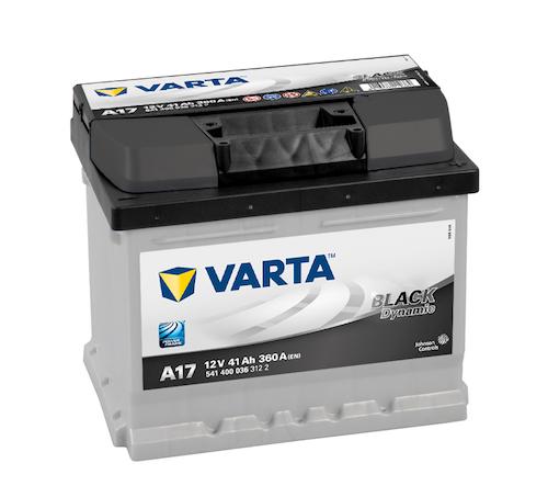 Baterie auto Varta A17 Black Dynamic 41Ah 12V 541400036