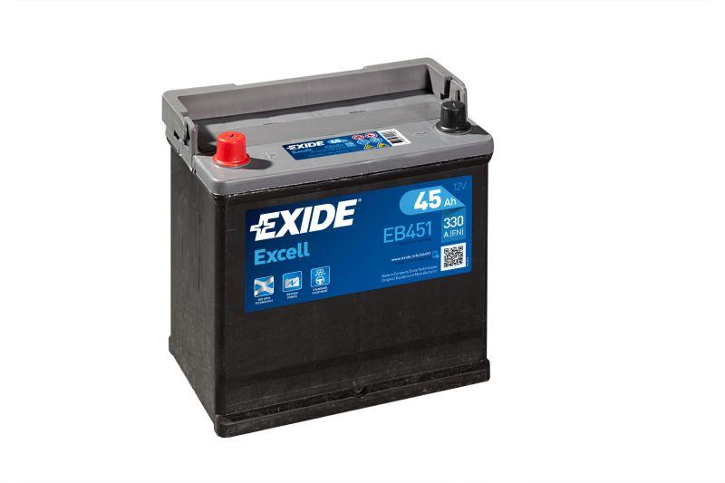 Baterie auto Exide Excell 45Ah 12V EB451