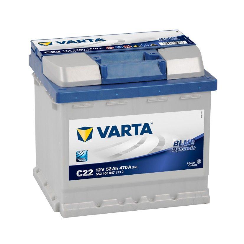 Baterie auto Varta C22 Blue Dynamic 52Ah 12V 552400047