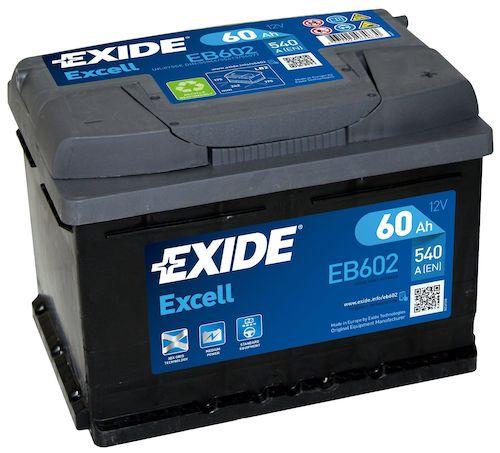 Baterie auto Exide Excell 60Ah 12V EB602