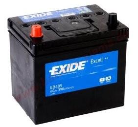 Baterie auto Exide Excell 60Ah 12V EB605