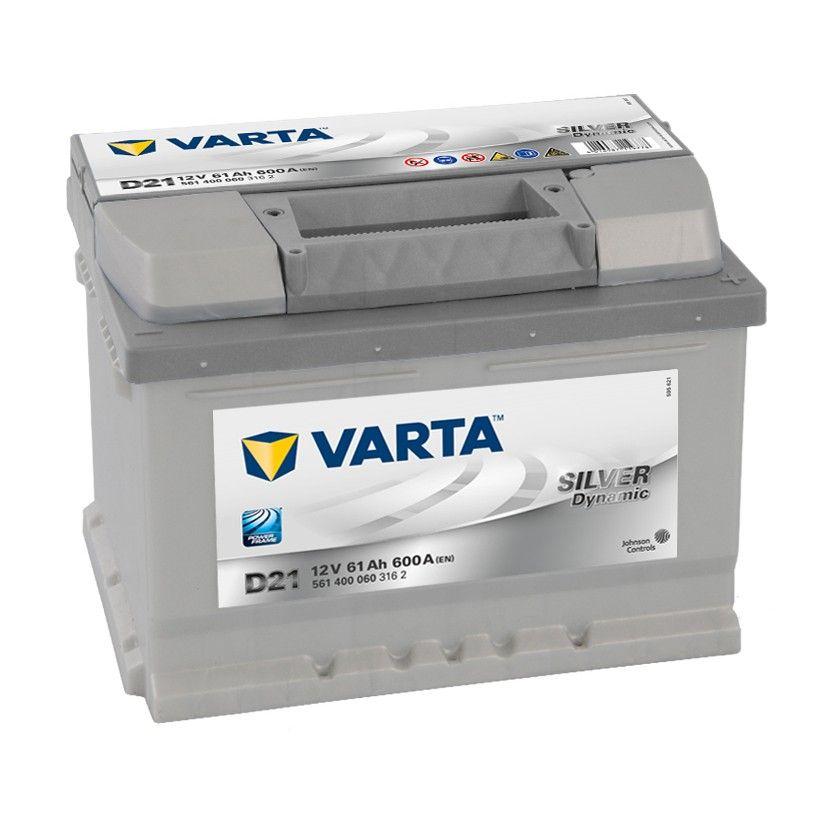 Baterie auto Varta D21 Silver Dynamic 61Ah 12V 561400060