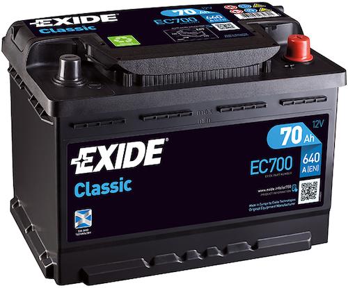 Baterie auto Exide Classic 70Ah 12V EC700
