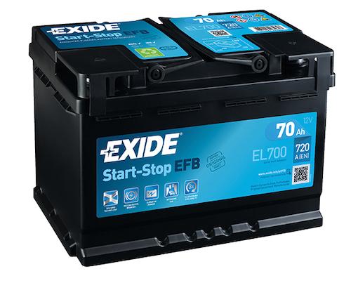 Baterie auto Exide Start-Stop EFB 70Ah 12V EL700
