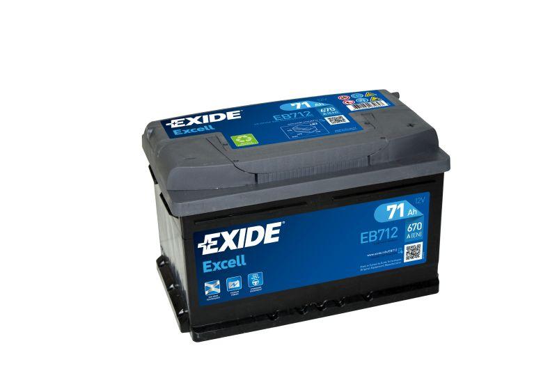 Baterie auto Exide Excell 71Ah 12V EB712
