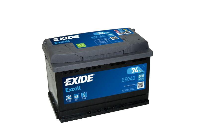 Baterie auto Exide Excell 74Ah 12V EB740