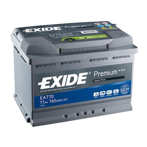 Baterie auto Exide Premium 77Ah 12V EA770