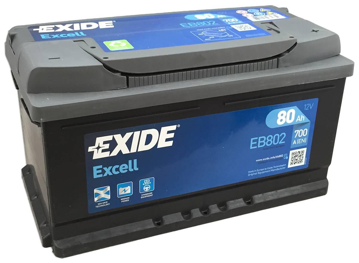 Baterie auto Exide Excell 80Ah 12V EB802