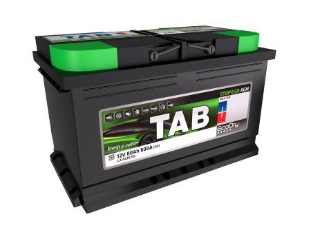Baterie auto TAB EcoDry Stop & Go AGM 80Ah 12V