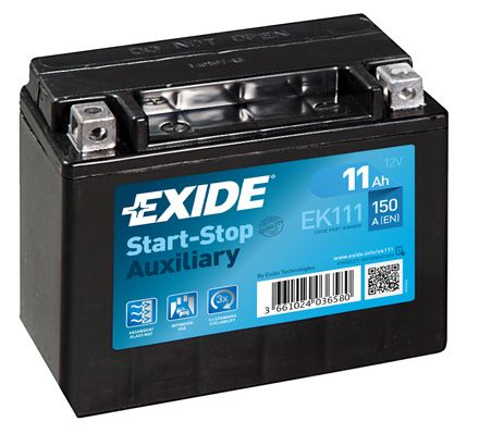 Baterie auto Exide Start-Stop Auxiliary 11Ah 12V EK111