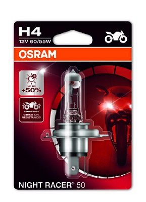 Bec auto halogen pentru far Osram Night Racer 50 H4 12V 60/55W