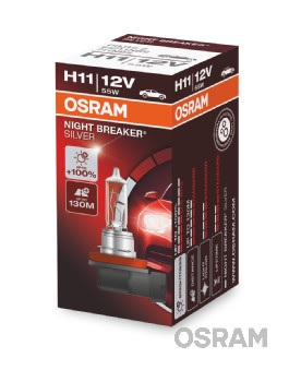Bec auto halogen pentru far Osram Night Breaker Silver H11 12V 55W