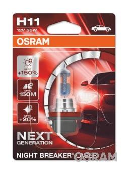 Bec auto halogen pentru far Osram Night Breaker Laser Next Generation H11 12V 55W