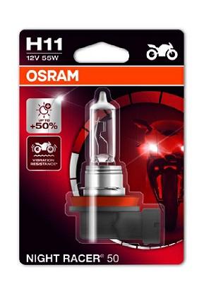 Bec auto halogen pentru far Osram Night Racer 50 H11 12V 55W
