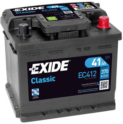 Baterie auto Exide Classic 41Ah 12V EC412