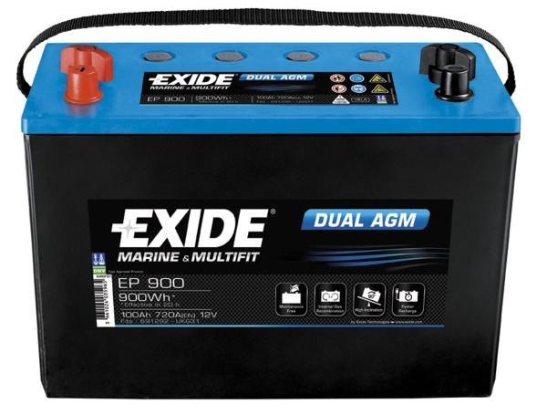 Baterie auto Exide Dual AGM 100Ah 12V EP900