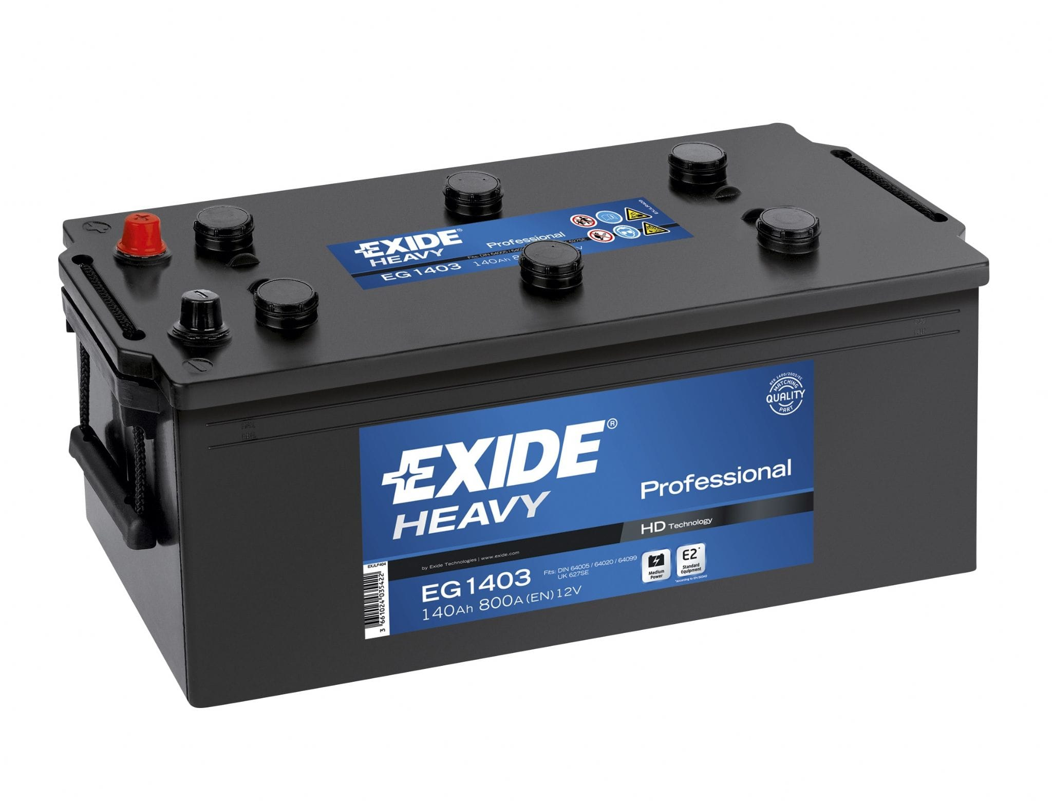 Baterie camion Exide Heavy Duty Professional 140Ah 12V EG1403