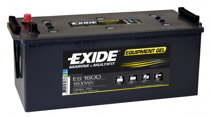 Baterie camion Exide Equipment Gel 140Ah 12V ES1600