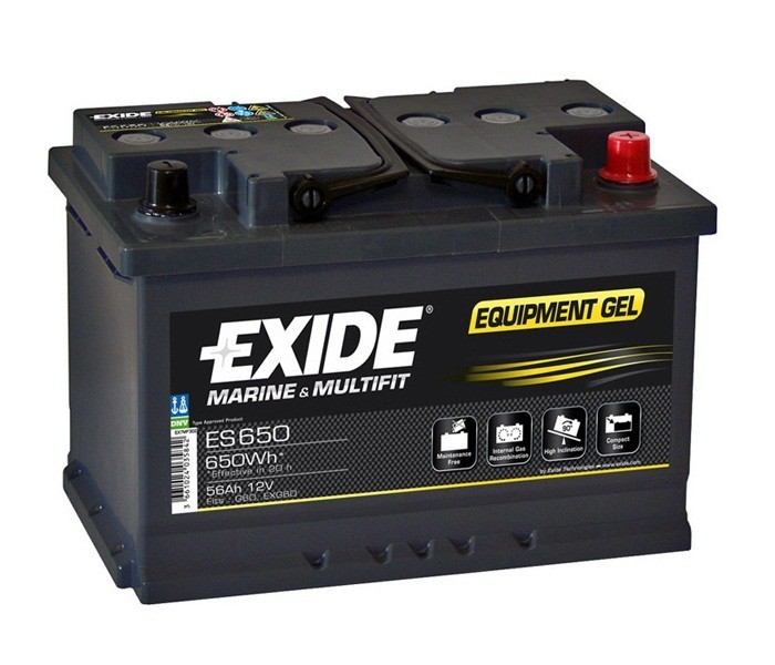 Baterie auto Exide Equipment Gel 56Ah 12V ES650