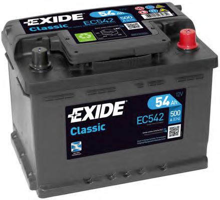 Baterie auto Exide Classic 54Ah 12V EC542