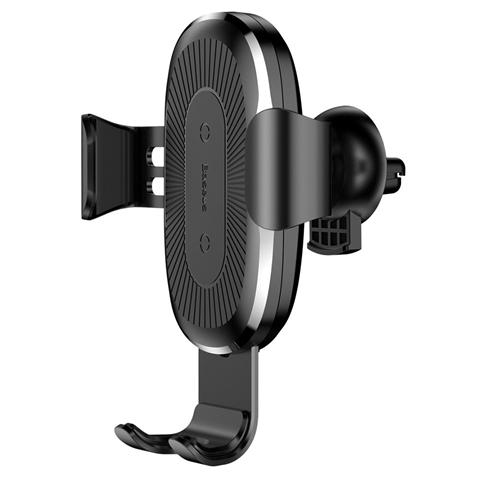 Suport telefon auto Gravity cu Wireless Charger black Baseus