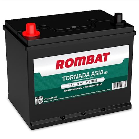 Baterie auto Rombat Tornada Asia 75 Ah 12V 57536G1061