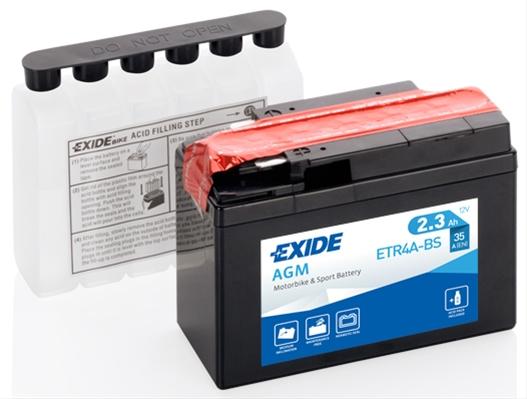 Baterie motocicleta Exide Agm 2.3Ah 12V ETR4A-BS