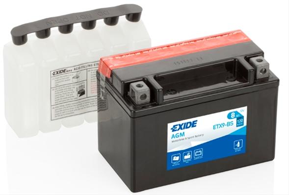 Baterie motocicleta Exide Agm 8Ah 12V ETX9-BS