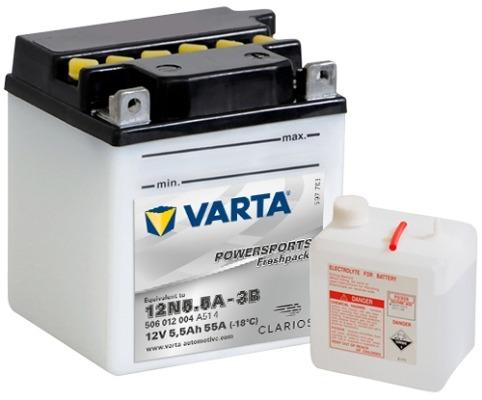 Baterie motocicleta Varta Powersports 5.5Ah 12V 506012004