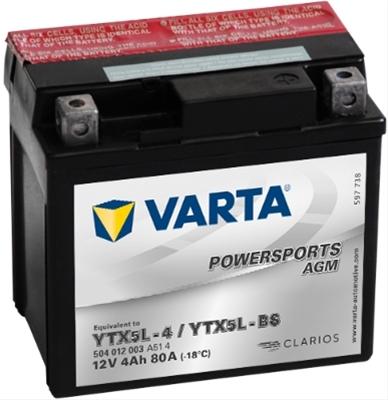 Baterie motocicleta Varta Powersports Agm 12Ah 12V 512014010