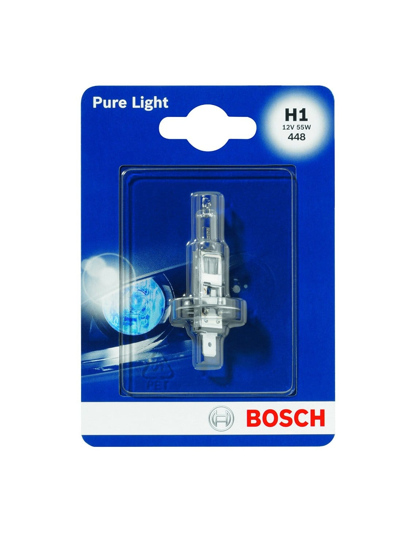 Bec auto halogen pentru far Bosch Pure Light H1 55W 12W 1987301005