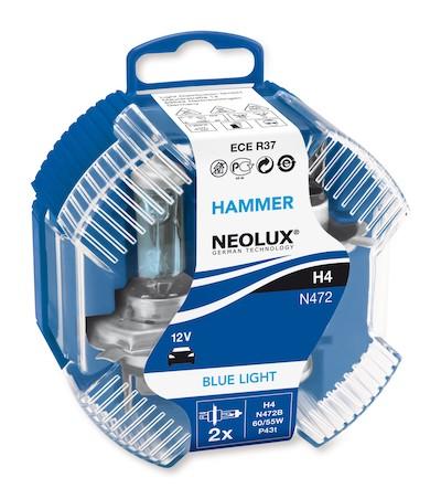 Set 2 becuri auto halogen pentru far Neolux Blue Light H4 60/55W 12V N472B