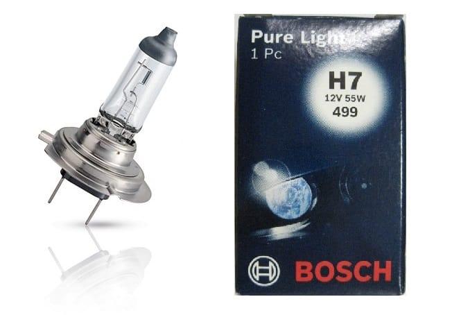 Bec auto halogen pentru far Bosch Pure Light H7 55W 12V 1 987 302 071