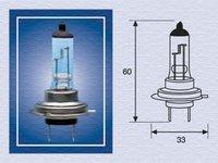 Bec auto halogen pentru far Magneti Marelli Blue Light H7 55W 12V