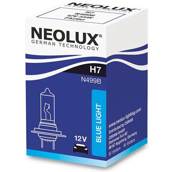 Set 2 becuri auto halogen pentru far Neolux Blue Light H7 55W 12V
