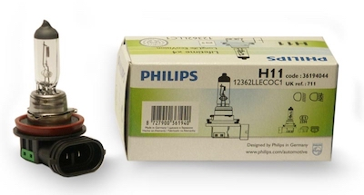Bec auto halogen pentru far Philips Longlife EcoVision H11 55W 12V 12362LLECOC1