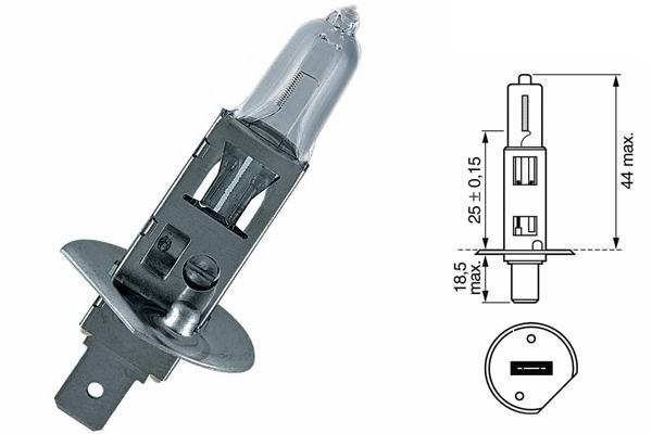 Bec auto halogen pentru far Valeo Standard H1 55W 12V 032003
