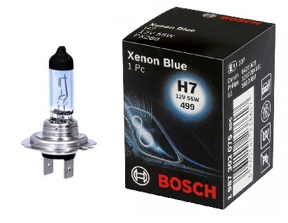 Bec auto halogen pentru far Bosch Xenon Blue H7 55W 1987302075