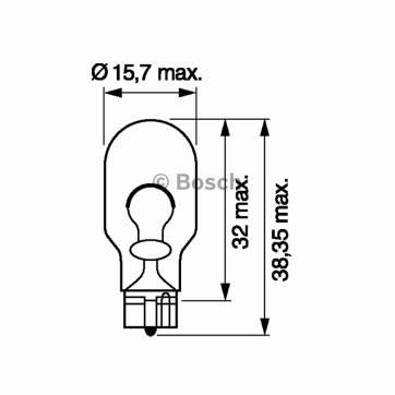 Bec auto halogen Bosch Eco W16W 16W 12V 1 987 302 821