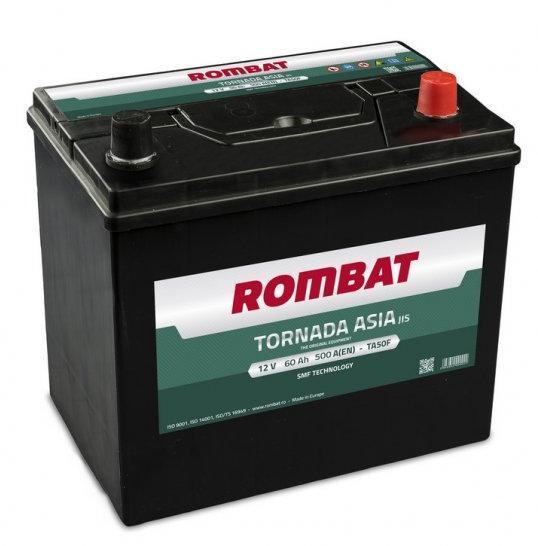 Baterie auto Rombat Tornada Asia 60Ah 500A 12V BORNE INVERSE