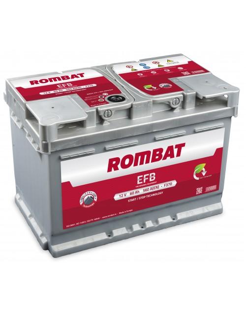 Baterie auto Rombat EFB Start-Stop 60Ah 560A 12V 5601120056