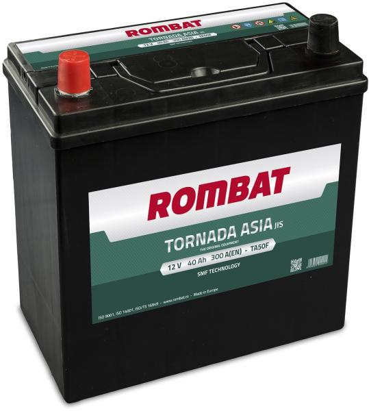 Baterie auto Rombat Tornada Asia 40Ah 300A 12V 54036K0030